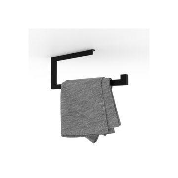 Looox Roll handdoekhouder 1-delig mat zwart, mat zwart