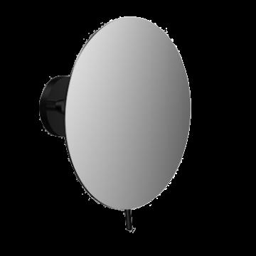 Emco Round cosmeticaspiegel 3x vergrotend 22,5 x 10,3 cm, zwart