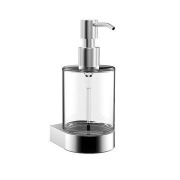 Emco Flow zeepdispenser met glazen flacon 16,8 x 6,9 x 8,9 cm, chroom