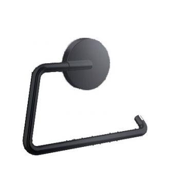 Emco Round toiletrolhouder zonder klep, zwart
