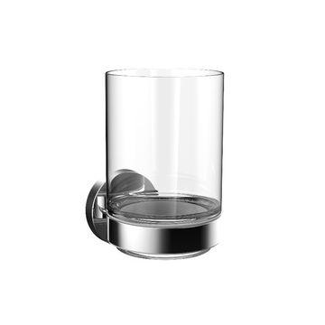 Emco Round glashouder met kristalglas, chroom