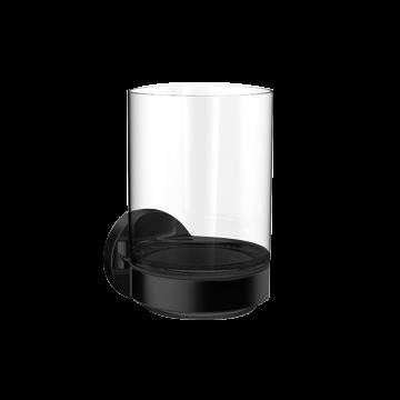 Emco Round glashouder met kristalglas, zwart