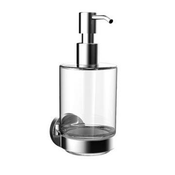 Emco Round zeepdispenser met kristalglas, chroom