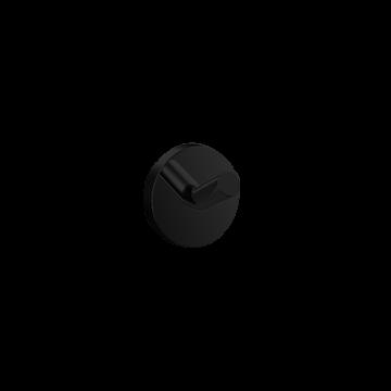 Emco Round handdoekhaak enkel 4 cm, zwart