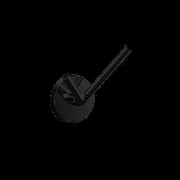 Emco Round handdoekhaak dubbel 4 cm, zwart