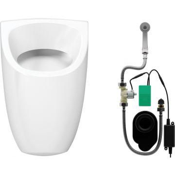 Wisa Ipee hoekig urinoir met infrarood sturing 230v, wit