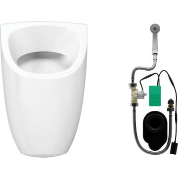 Wisa Ipee hoekig urinoir met infrarood sturing batterij 6v, wit
