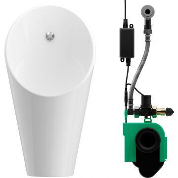 Wisa Ipee slim urinoir met infrarood sturing 230v, wit