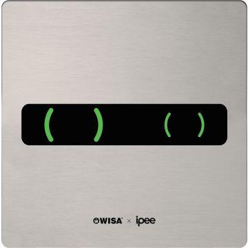 Wisa Ipee bedieningspaneel met infraroodsensor, duo flush, rvs