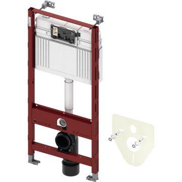 TECEprofil inbouwreservoir met Uni-spoelkast 112x50x15 cm, geschikt voor frontbediening