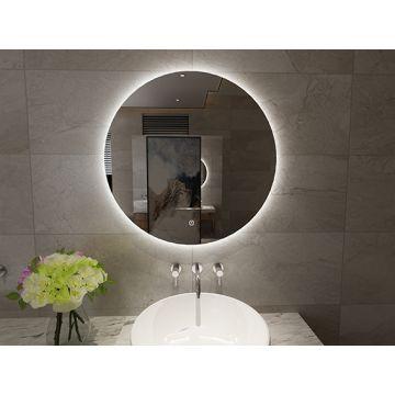 Sub Giro ronde spiegel met LED verlichting, ø 80 cm