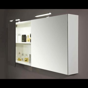 Sub 112 spiegelkast 140x65x12cm 2 deuren z/verlichting wit, wit