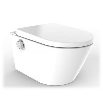 Sub Royal Clean+ douchewc met Vortex flush, rear en lady wash, warmeluchtföhn en softclose- en quick release-zitting, wit