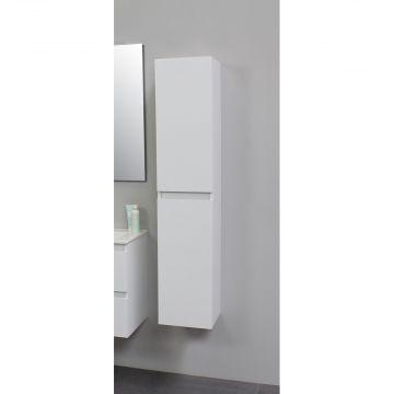 Sub Online flatpack greeploze hoge kast met 2 deuren 145 x 30 x 30 cm, hoogglans wit