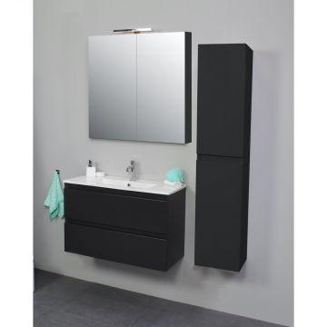 Sub Online zijpanelen voor spiegelkast 60x14x2 cm, mat antraciet