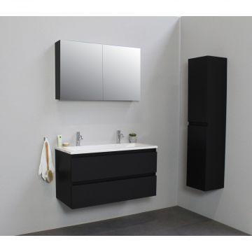 Sub Online zijpanelen voor spiegelkast 60x14x2 cm, mat zwart