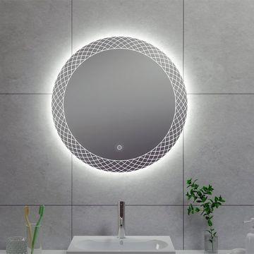 Wiesbaden Deco condensvrije spiegel met LED-verlichting ø 80 cm
