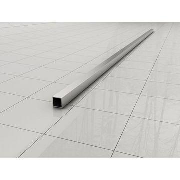 Wiesbaden Slim stabilisatiestang los 120 cm, chroom