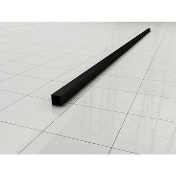 Wiesbaden Slim stabilisatiestang los 120 cm, matzwart