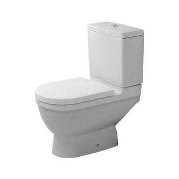 Duravit Starck 3 closet staand 370x430x655mm diepsp. gesloten wit, wit