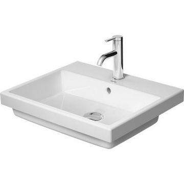 Duravit Vero air inbouwwastafel 55x45,5cm z/krgat m/overl. wit, wit