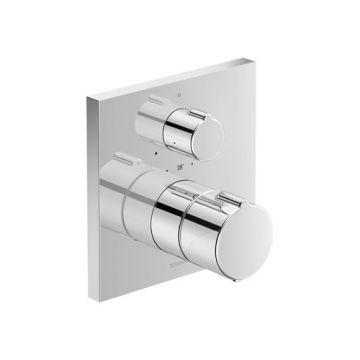 Duravit C.1 therm. douchemkr inbouw 150x150x94mm chroom hooggl, chroom hoogglans
