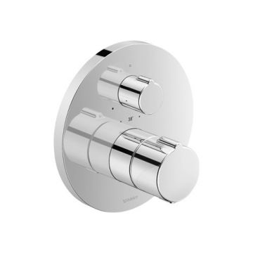 Duravit C.1 therm. douchemkr inbouw 170x170x94mm chroom hooggl, chroom hoogglans