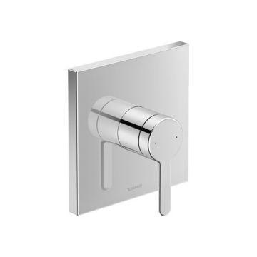Duravit C.1 1-gr douchemkr inbouw 150x77x150mm chroom hooggl, chroom hoogglans