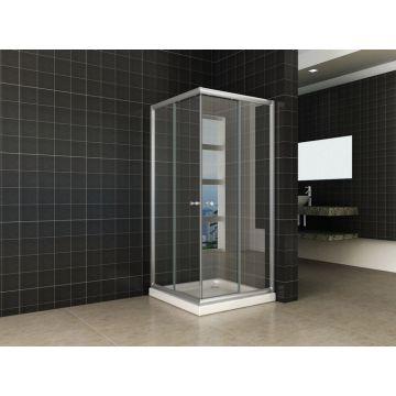 Wiesbaden Eco hoekinstap douchecabine 100x100x190 cm, aluminium