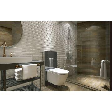 Wiesbaden Vesta-ECO wanddouche-wc Rimless met afstandsbediening, wit