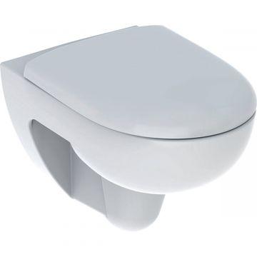 Geberit Renova wc-pack, wandcloset 54 cm met Rimfree en diepspoel, met Softclose- en Quick Release-zitting, wit