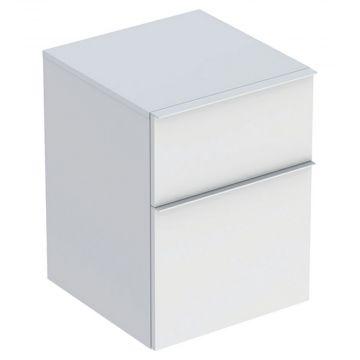 Geberit iCon kast laag 2 lade 45x60 cm, mat wit