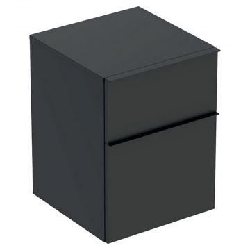 Geberit iCon kast laag 2 lade 45x60 cm, lava mat