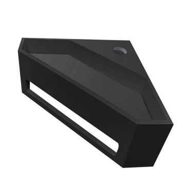 Julia hoekfontein solid surface 35 x 35 x 16 cm mat zwart