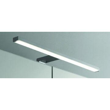 Sub opbouw spiegellamp LED, 50 cm breed, chroom