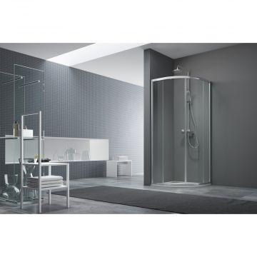 Alterna Free basic deur kwartrond 80x80x190cm chroom/helder glas, chroom-helder