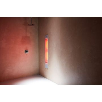 Sunshower Pure XL full body inbouwmodel infrarood 124x20x10 cm, wit