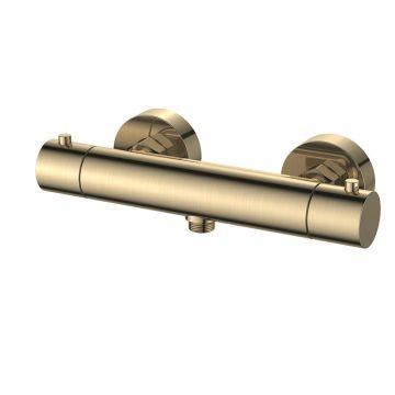 Regn thermostatische douchemengkraan 27,4 cm, geborsteld goud
