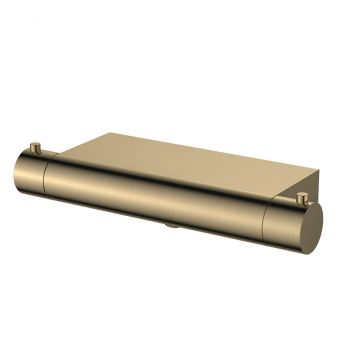 Regn thermostatische douchemengkraan met planchet 30,1 cm, geborsteld goud