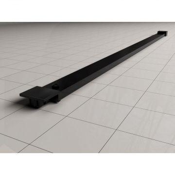 Stabilisatiestang 120 compleet voor inloopdouche + raster zwart